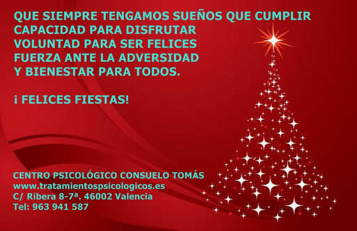 Felicitación Navidad 2014-2015. Consuelo Tomás. tratamientospsicológicos. Centro Psicológico Consuelo Tomás