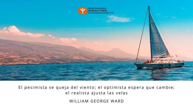 El pesimista se queja del viento; el optimista espera que cambie; el realista ajusta las velas